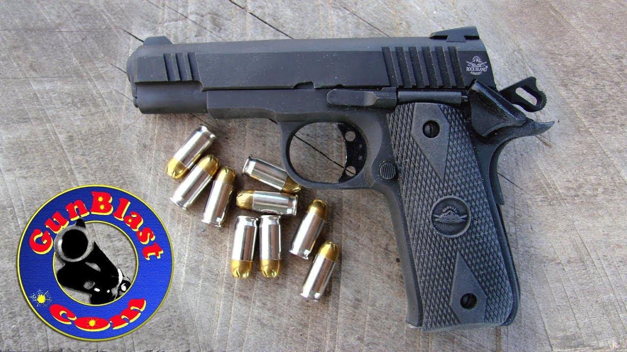 "Shooting the Rock Island Armory ""Baby Rock"" 380 Semi-Automatic Pistol -  Gunblast com"