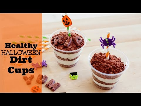 Healthy Halloween Snacks: High Protein Dirt Cups