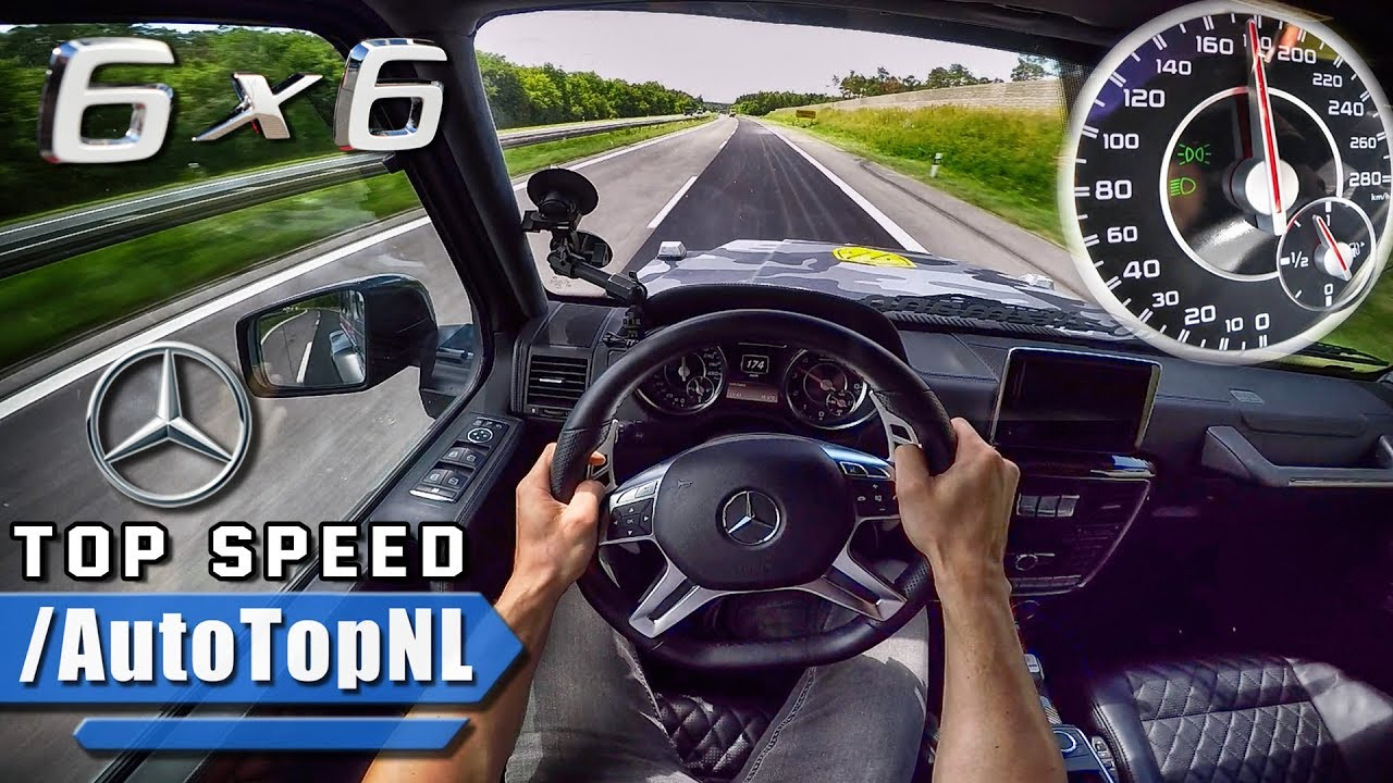 Amg G Wagon >> MERCEDES G63 AMG 6X6 AUTOBAHN POV ACCELERATION & TOP SPEED ...