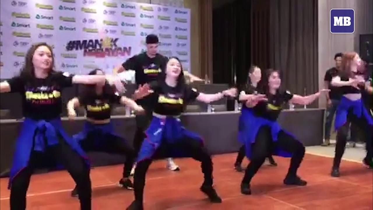 Gilas Pilipinas Kobe Paras performs with Chooks To Go girls