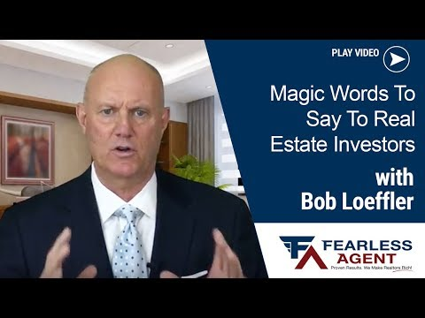 Real Estate Sales Coaching & Training - What to say to Investors