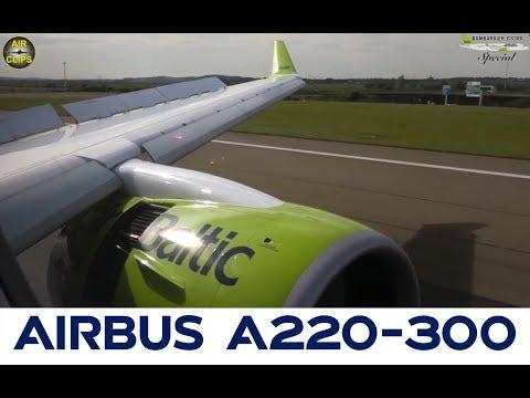 B787? No! A350? No! Massive CS300 Engine of Air Baltic in Paris CDG! [AirClips]