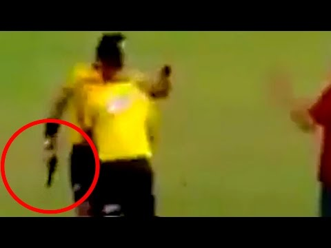 Referee Pulls Out Handgun During Brazilian Soccer Match