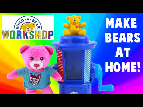 build a bear workshop stuffing station build your own bear at home youtube