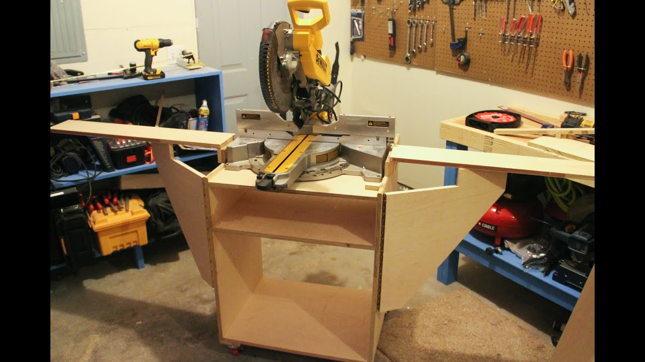 Miter Saw Station (How To Build) - YouTube