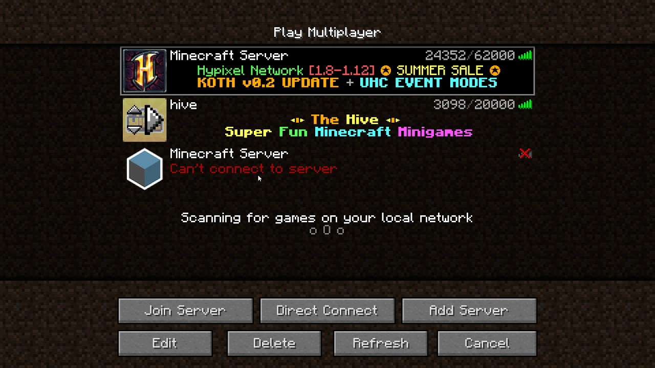 servers for minecraft 1.12.2
