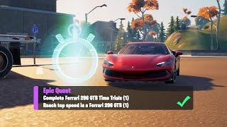 Complete Ferrari 296 GTB Time Trials & Reach Top Speed in a Ferrari (1) - Fortnite Week 7 Epic Quest