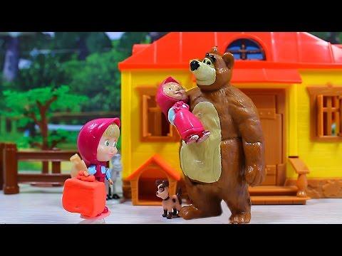 Маша и медведь в игрушках мультфильм