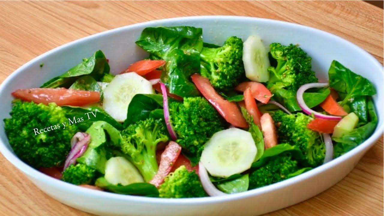 Ensalada de Brocoli con Aderezo- Una receta rica y diferente!