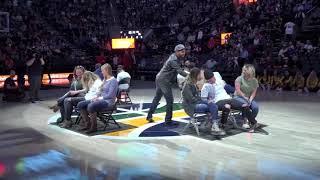 Hypnotist Chrisjones Halftime show Jazz vs Lakers  (Oct 28th 2017)