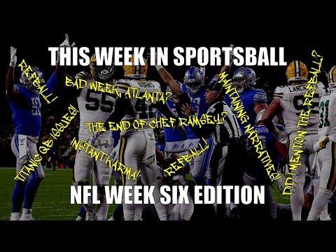 This Week in Sportsball: NFL Week Six Edition (2019)