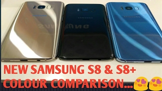 NEW SAMSUNG GALAXY S8 & S8+ COLOUR COMPARISON VIDEO...(BLACK - GOLD - CORAL BLUE)