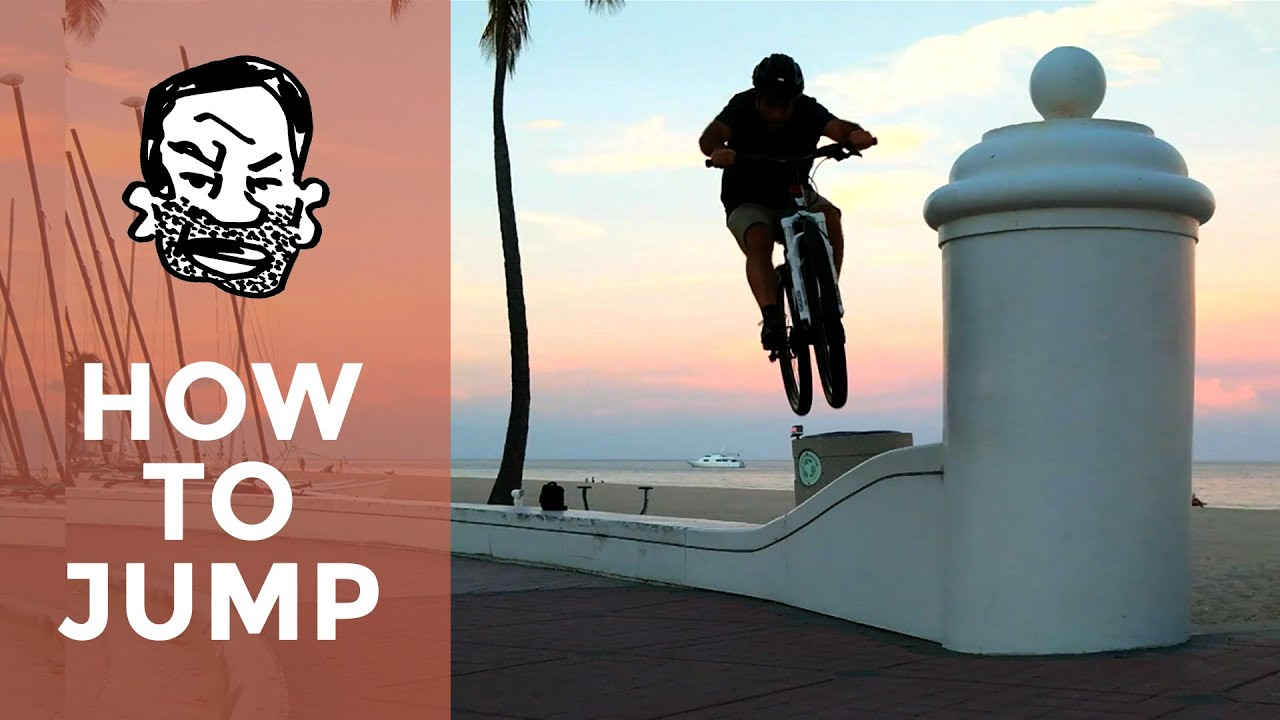 How to jump a MTB for beginners - YouTube