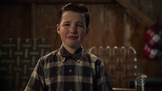 Young Sheldon S02E22  Final scenes Nobel Prize Announcement/Younger version of Big Bang Theory
