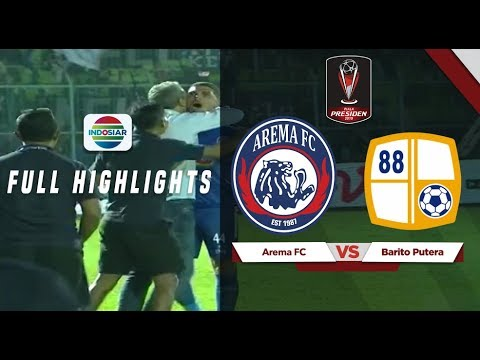 Arema FC (3) vs (2) Barito Putera - Full Highlights | Piala Presiden 2019