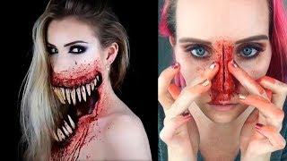 ✦Special Effects Makeup Transformations | Halloween Makeup...
