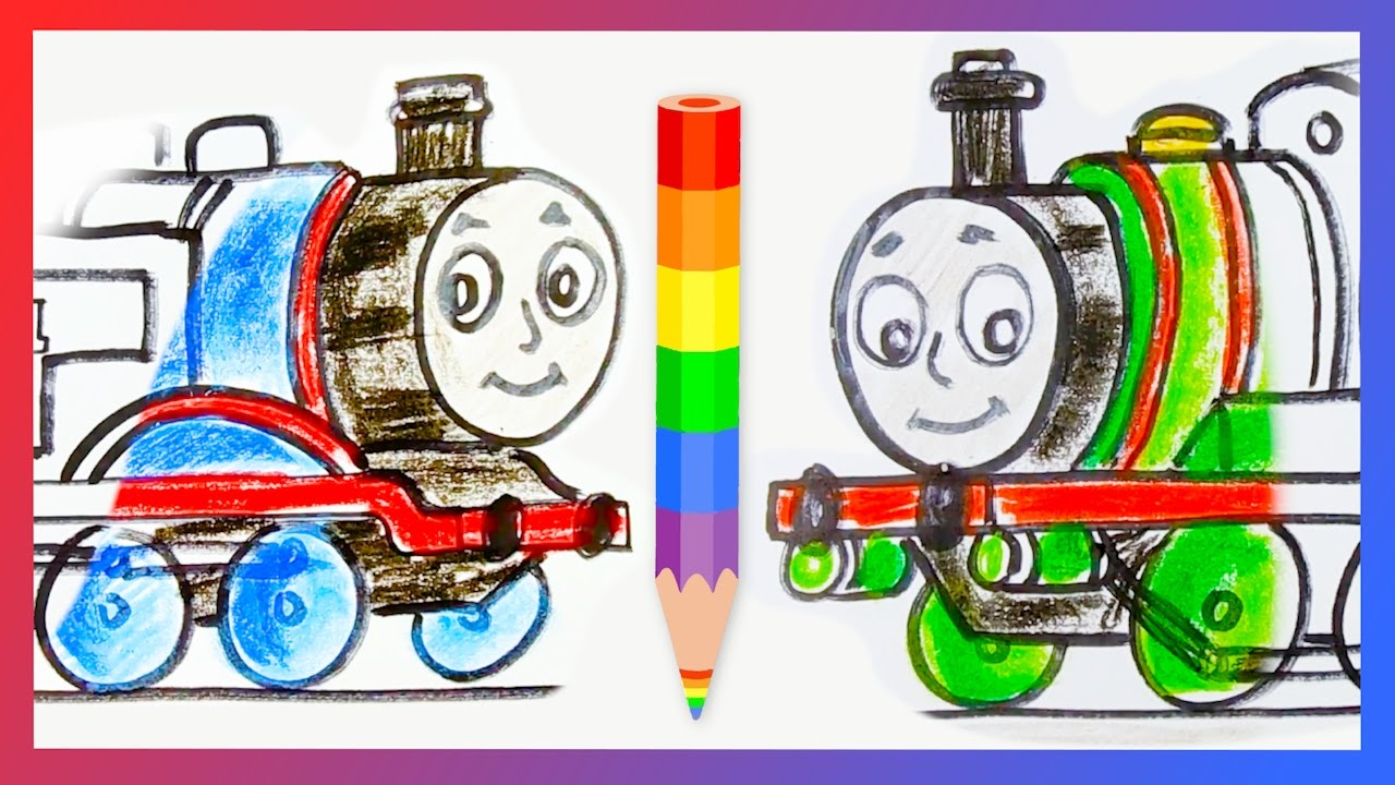How To Draw Thomas The Tank Engine And Percy Small