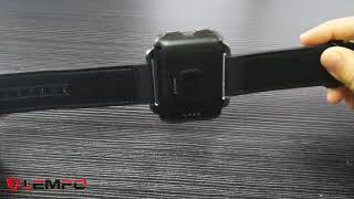 jam tangan elegan Lemfo LEM4 Pro Layar 2.2 Inci 3G Smart Watch Android 5.1 1200 M Ah 1 GB 16 GB WIFI / Видео