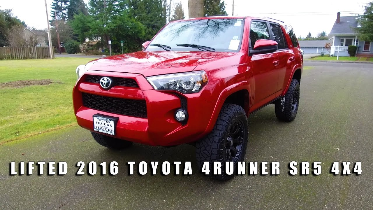 lifted 2016 toyota 4runner sr5 4x4 youtube. Black Bedroom Furniture Sets. Home Design Ideas