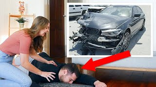 Crashing Boyfriend's $100,000 Car! He Passed Out!