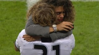 Player's emotional proposal at Rugby World Cup game