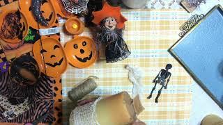 DIY Halloween Decoration - Spooky Pillar Candle - Revamp &  Dress Up - Craft Project