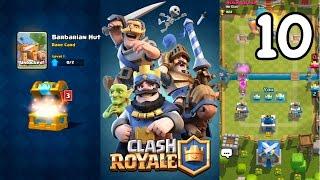 Clash Royale - I GOT BARBARIAN HUT + FARMING TROPHIES!
