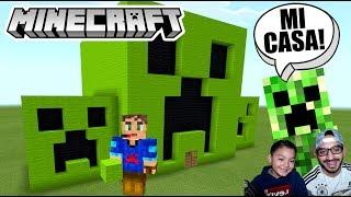 Casa Creeper en Minecraft | CASA FÁCIL DE MINECRAFT | Juegos Karim Juega