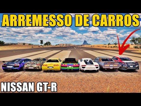 FORZA HORIZON 3 - NISSAN GT-R NO ARREMESSO DE CARROS - GAMEPLAY