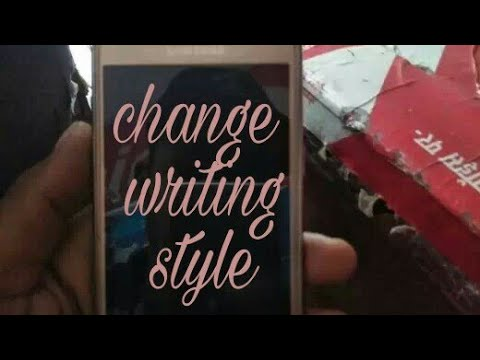 How to change phone's word writing style