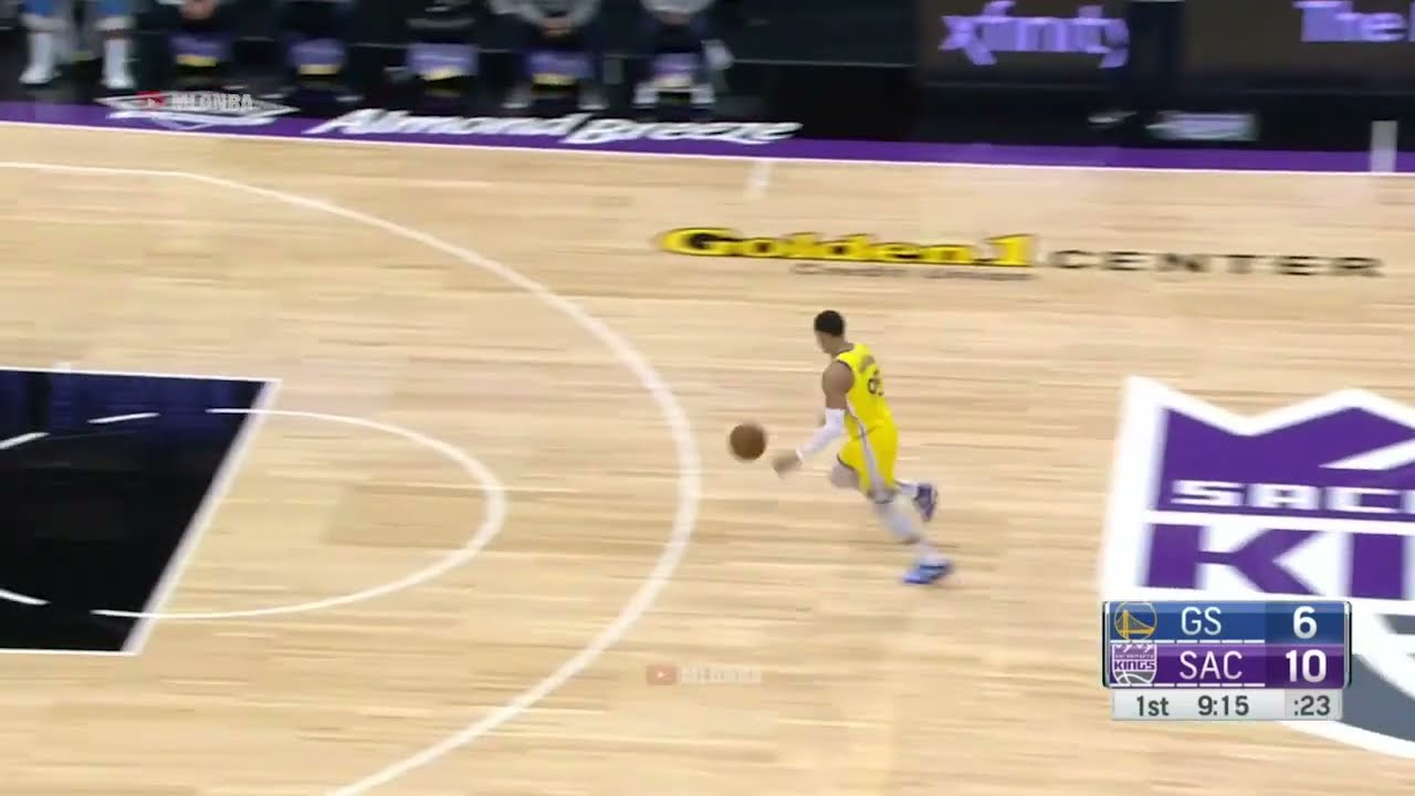 Juan Toscano-Anderson with the Windmill Dunk! Warriors vs Kings