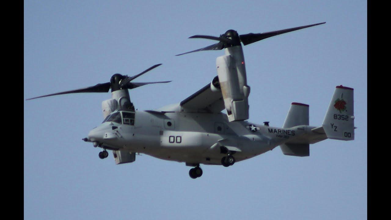 "Bell Boeing MV-22 ""Osprey"" US Marine Tiltrotor Performs at ..."
