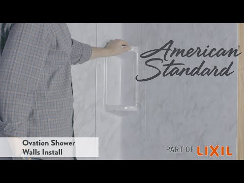 Ovation Shower Walls Install By American Standard