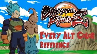 Dragon Ball FighterZ - Every alt color reference (w/ video sources)