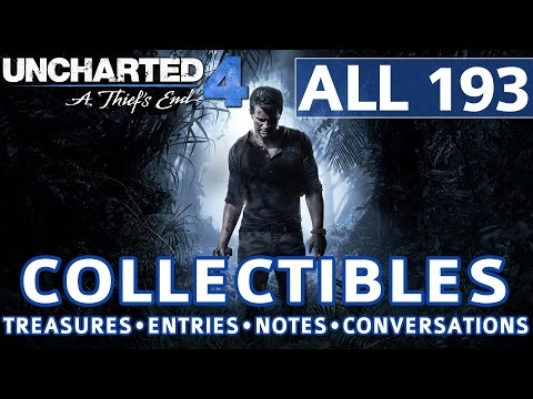 Uncharted 4 - All Collectibles Locations - Treasures, Journal Entries, Notes, Optional Conversations