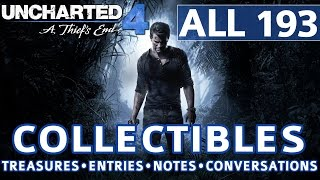 Video Uncharted 4 - All Collectibles Locations - Treasures, Journal Entries, Notes, Optional Conversations download MP3, 3GP, MP4, WEBM, AVI, FLV Juli 2018