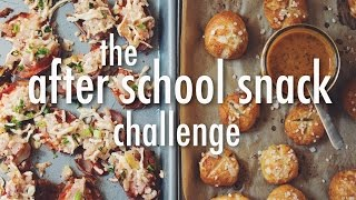THE AFTER SCHOOL SNACK CHALLENGE | hot for food