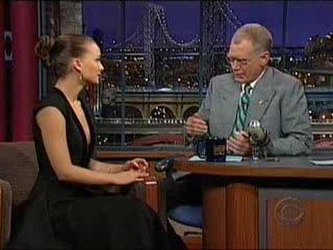 Natalie Portman on Late Nite with David Letterman 05-17 ... натали портман