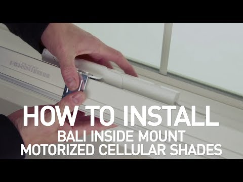How to Install Bali® Motorized Cellular Shades - Inside Mount