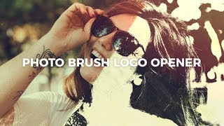 Photo Brush Logo Opener ( After Effects Project Files ) ★ AE Templates ★ 2018