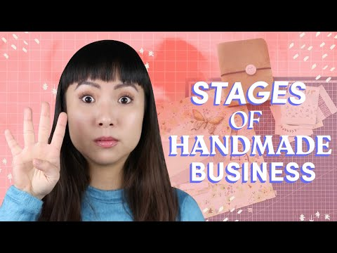 The 4 Stages of Handmade Business | What You Need To Do at Each Level $1,000 – $100,000+