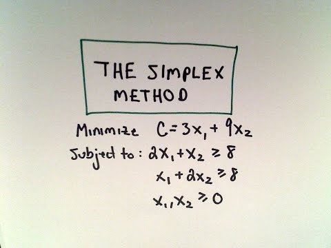 The Simplex Method and the Dual : A Minimization Example
