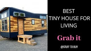 Best Tiny Houses Ready For Living. New Static House On Wheels