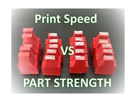 How does printing speed affect part strength/ layer bonding ?