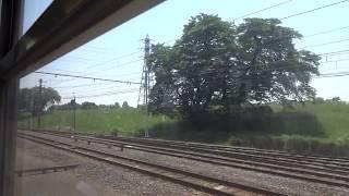 秩父鉄道イベント臨時列車 広瀬川原駅到着時の車窓