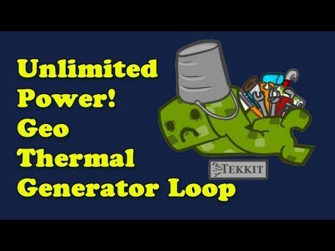 Unlimited power in Tekkit - GeoThermal Generator Loop