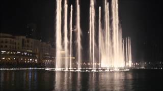 The Dubai Fountains - Bassbor Al Fourgakom At The Front Side