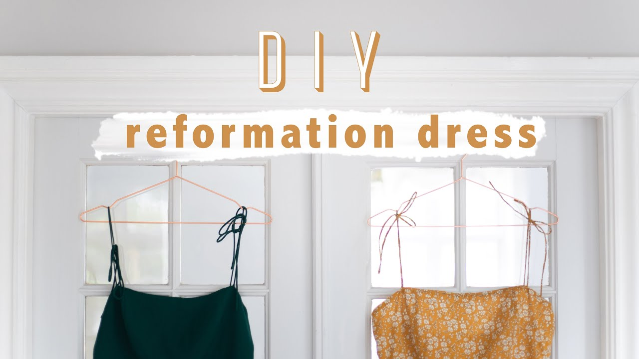 [VIDEO] - Thrift flip // DIY Reformation dress 3