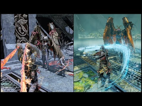 God of War (PS4 Pro) 4K - Part  32 - Hunting Valkyrie (GEIRDRIFUL & KARA)
