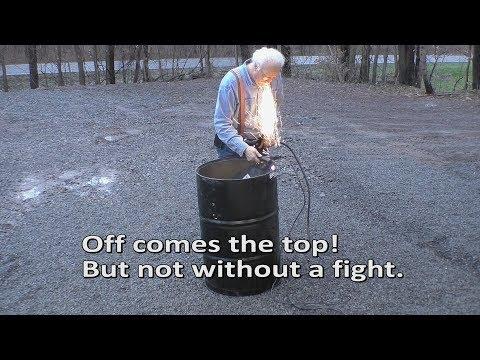 Short, Quick video on creating a burn barrel